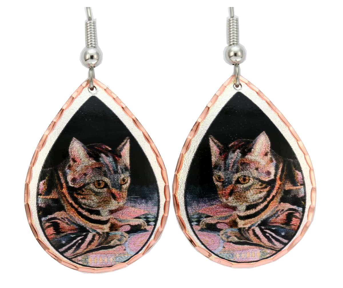 Cat Earrings Designed by Bob Coonts