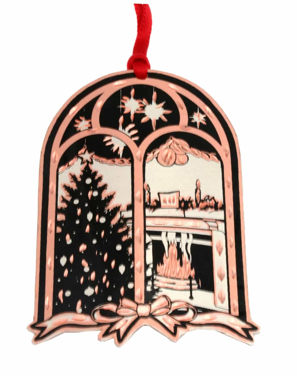 Wholesale handmade Christmas tree ornaments, Fireplace and Christmas tree copper ornament