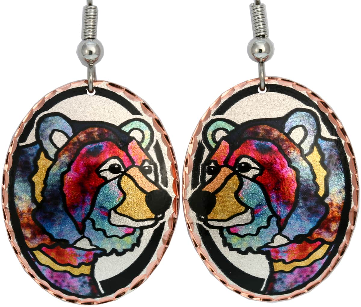 Colorful bear earrings will get lots of compliments every time when you wear