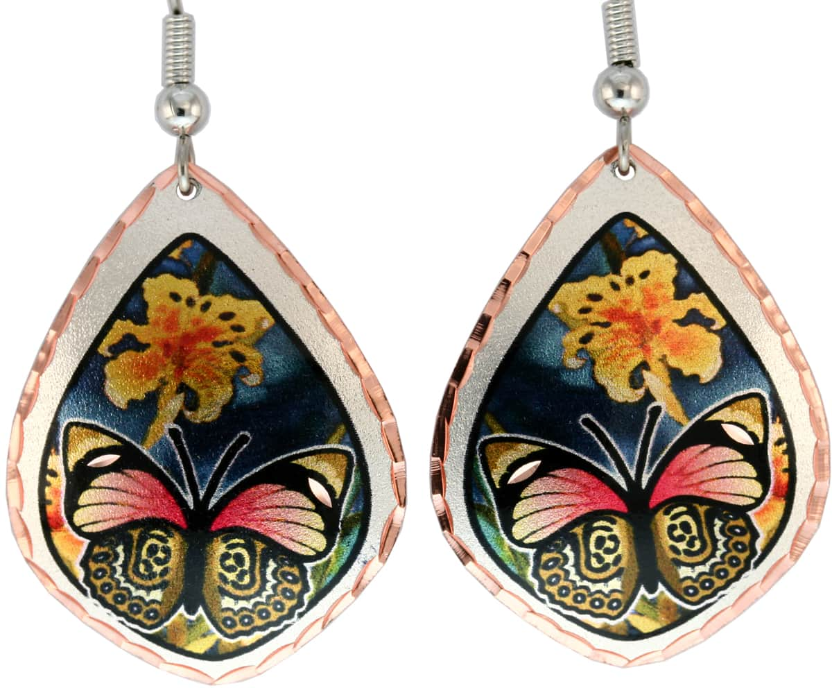 Purchase these colorful dazzling butterfly earrings now!