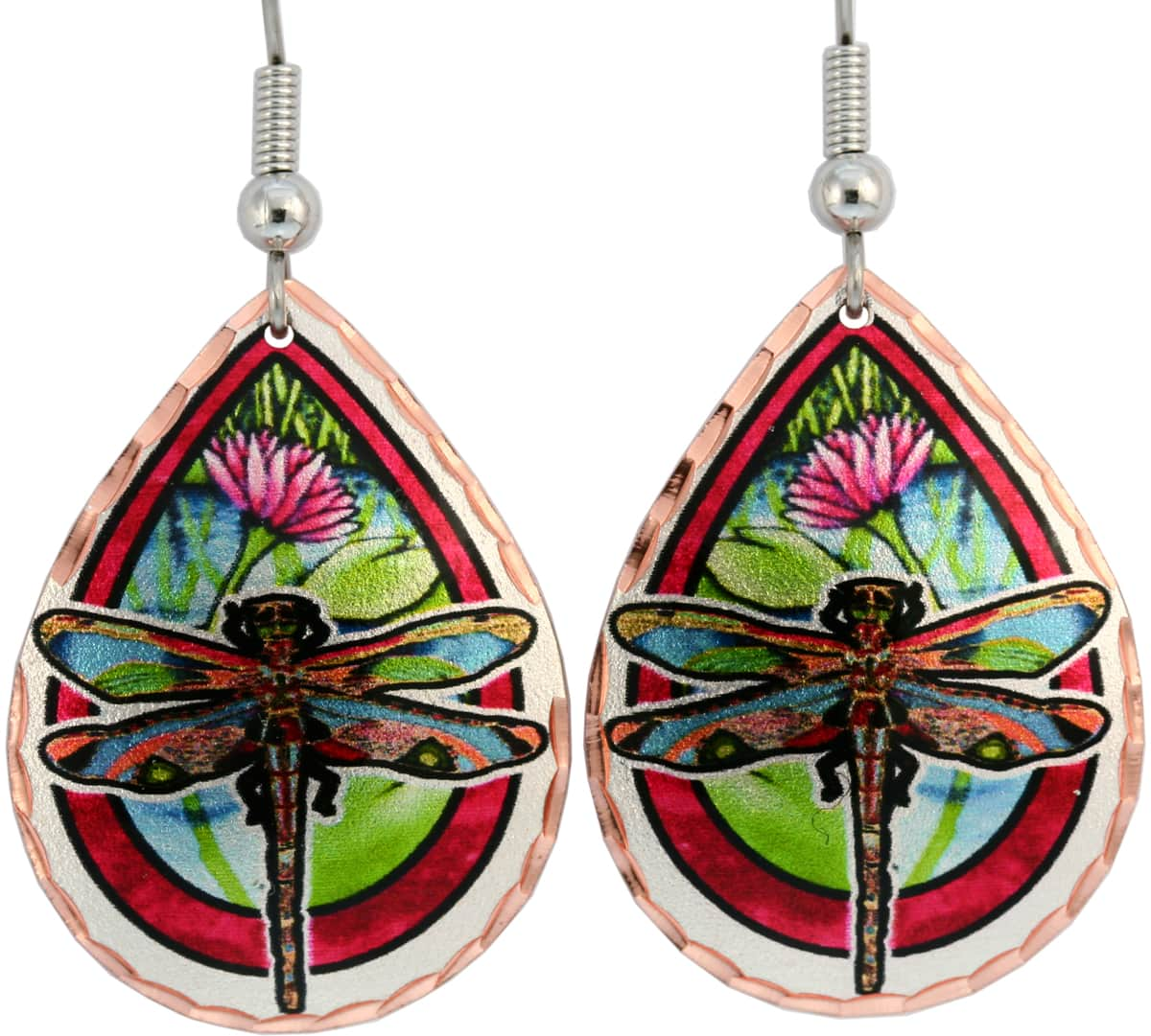 Wearing these colorful dragonfly earrings will impress everyone