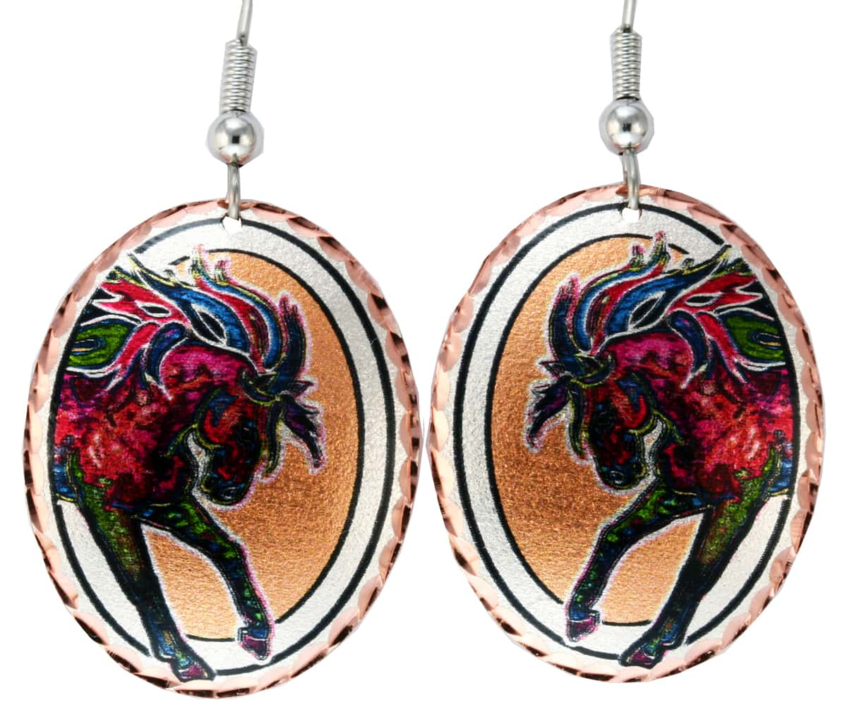 Buy Colorful Wild Horse Earrings