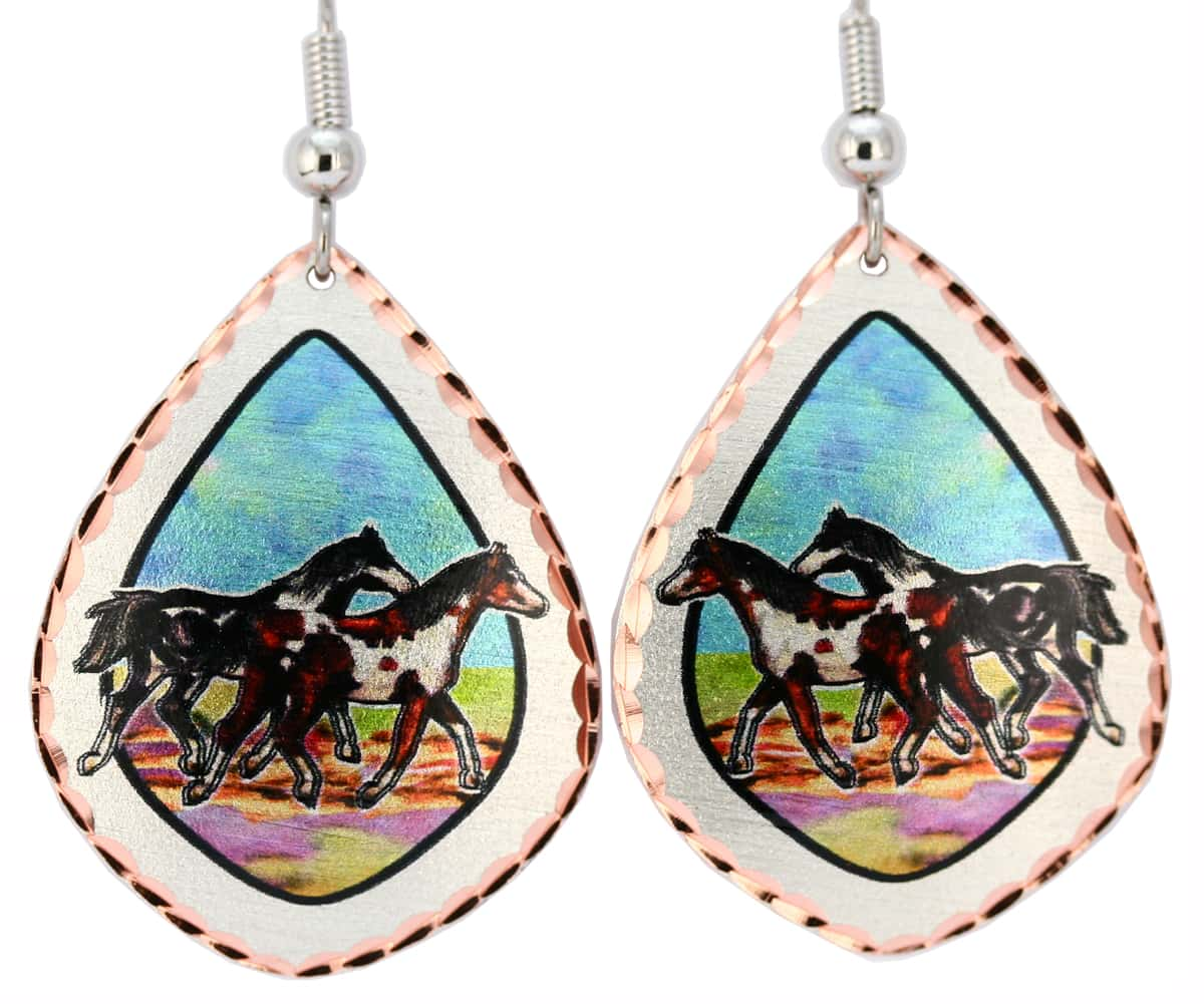 Colorful Wild Horses Earrings
