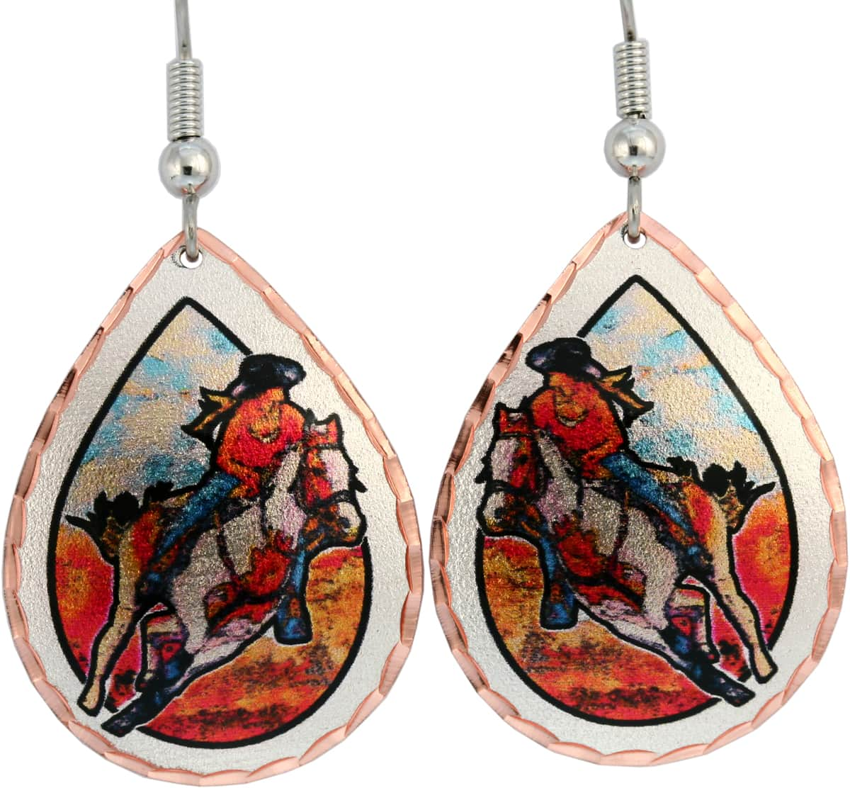 Cowgirl barrel racer earrings perfect choice for women who love western fashion