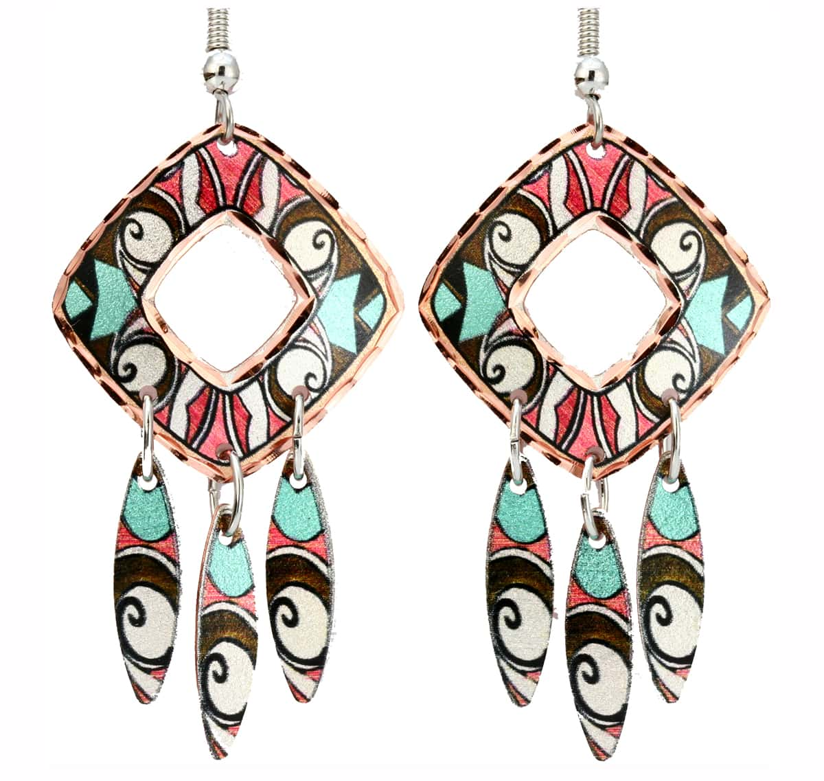 Colorful Dangle Native American Earrings