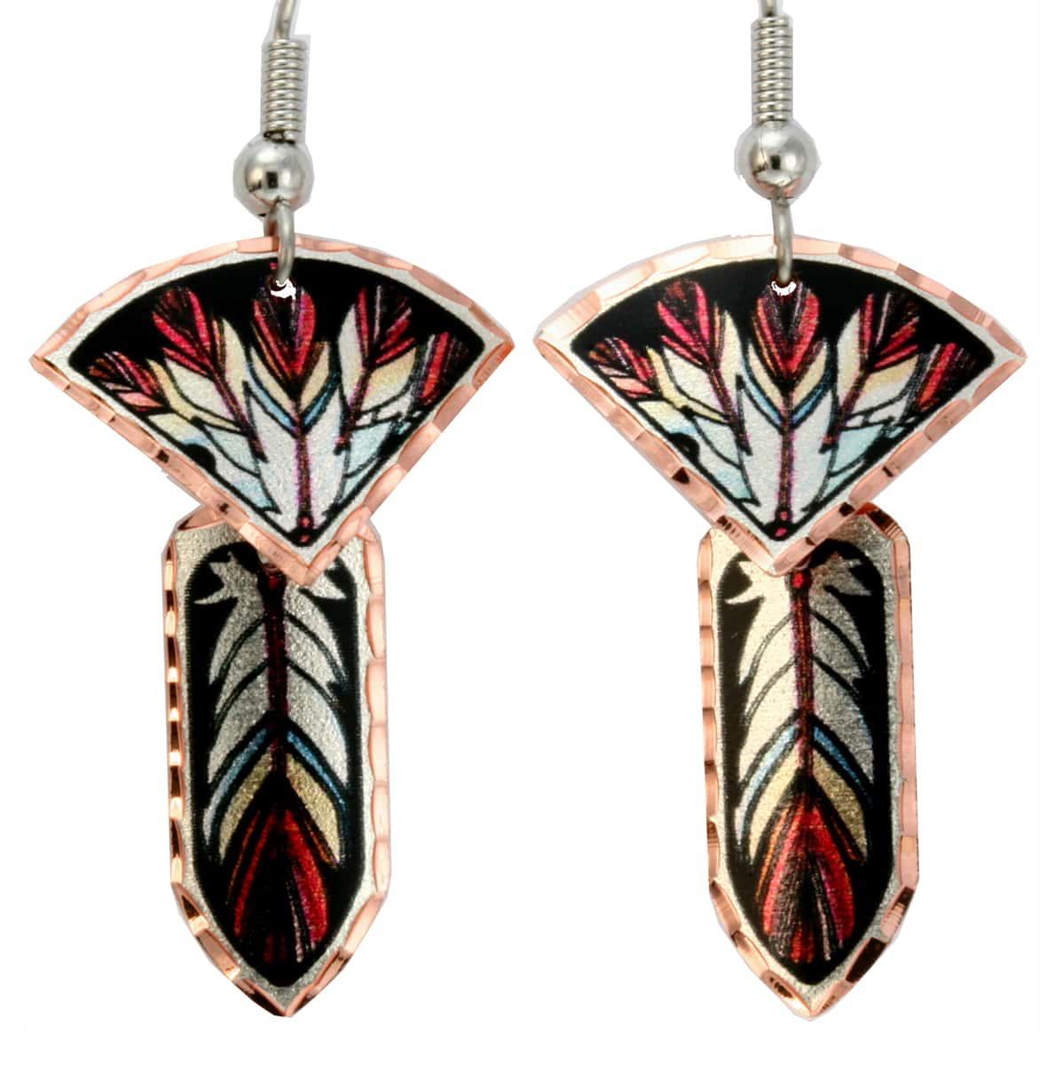 Buy Unique Earrings for Women, Dangle Feather Art Earrings