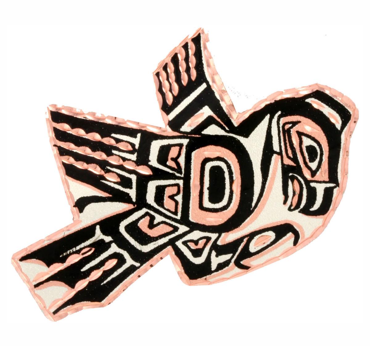 Haida Indian Eagle Brooch
