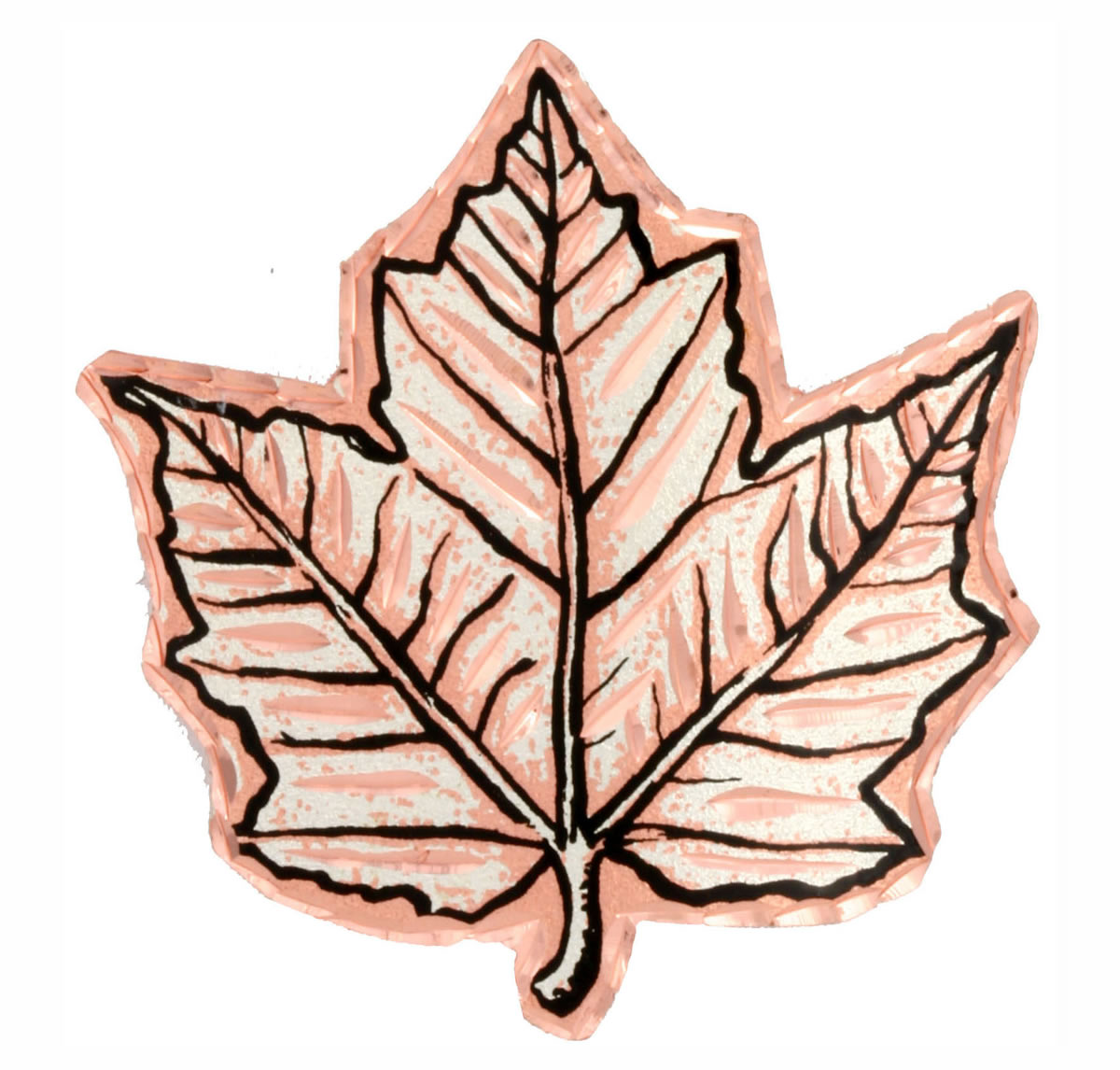 Copper Maple Leaf Brooches