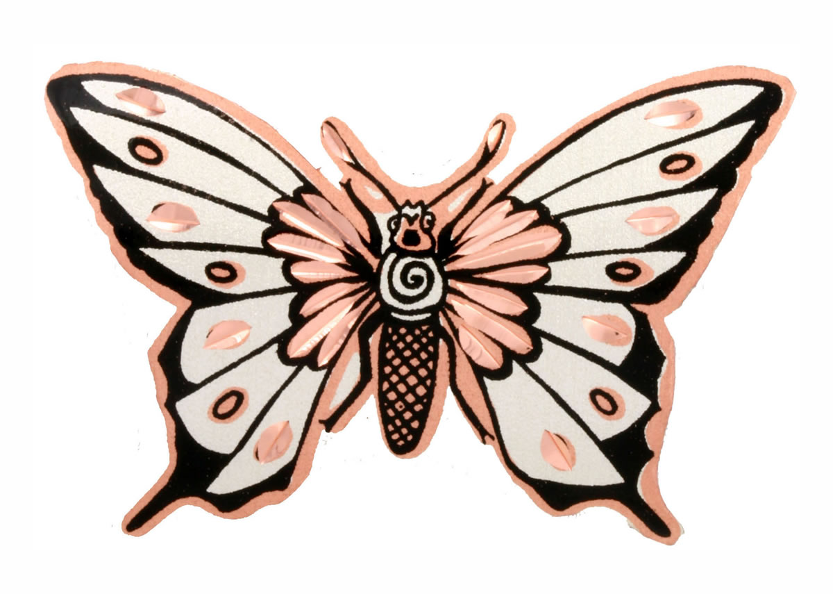 Handmade copper Native butterfly brooches perfectly accents your beauty and taste