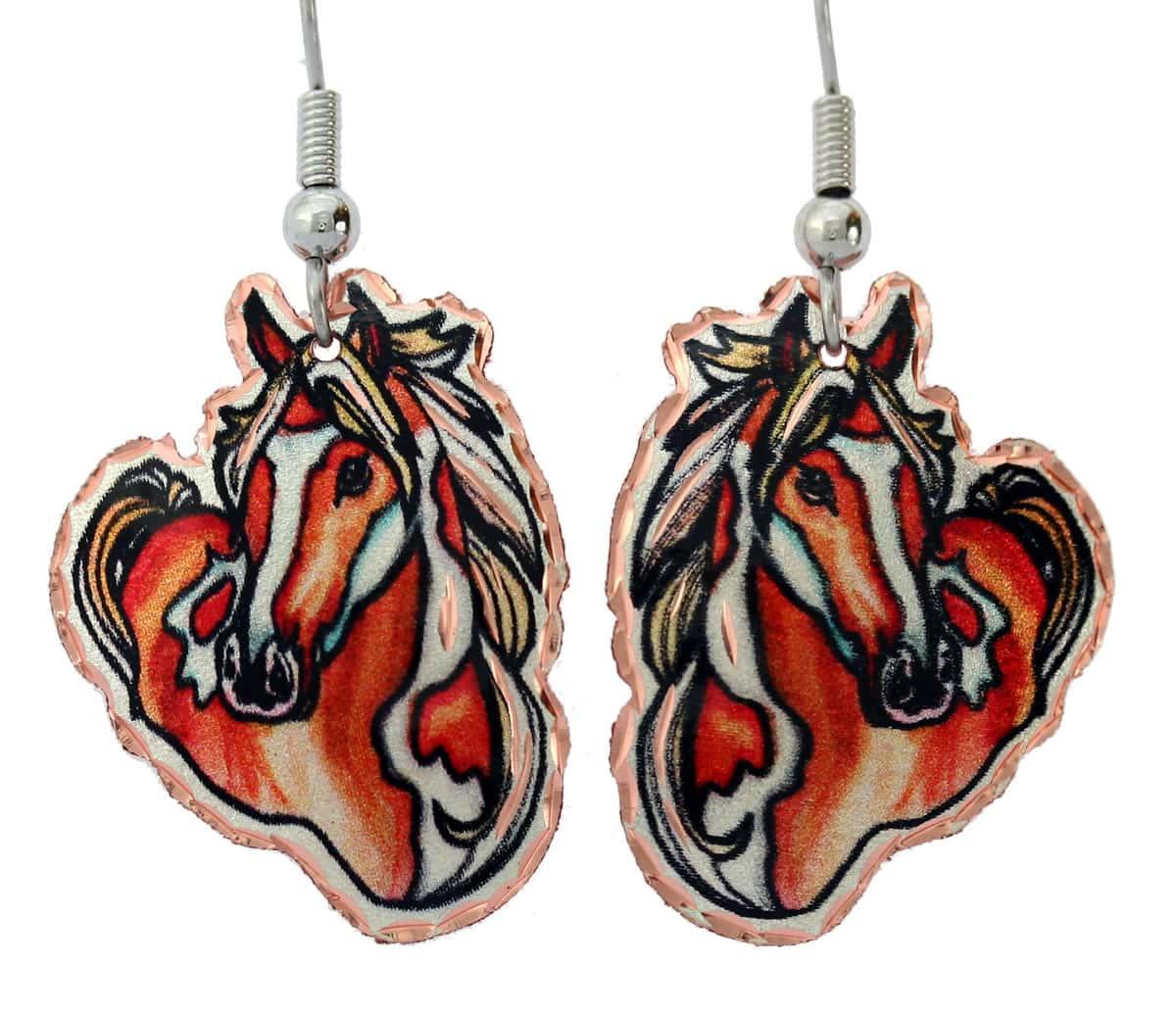 Equestrian Jewelry Horse Earrings Y-13