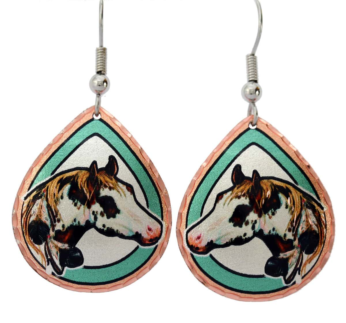 Teardrop horse earrings perfect to accentuate your western fashion style