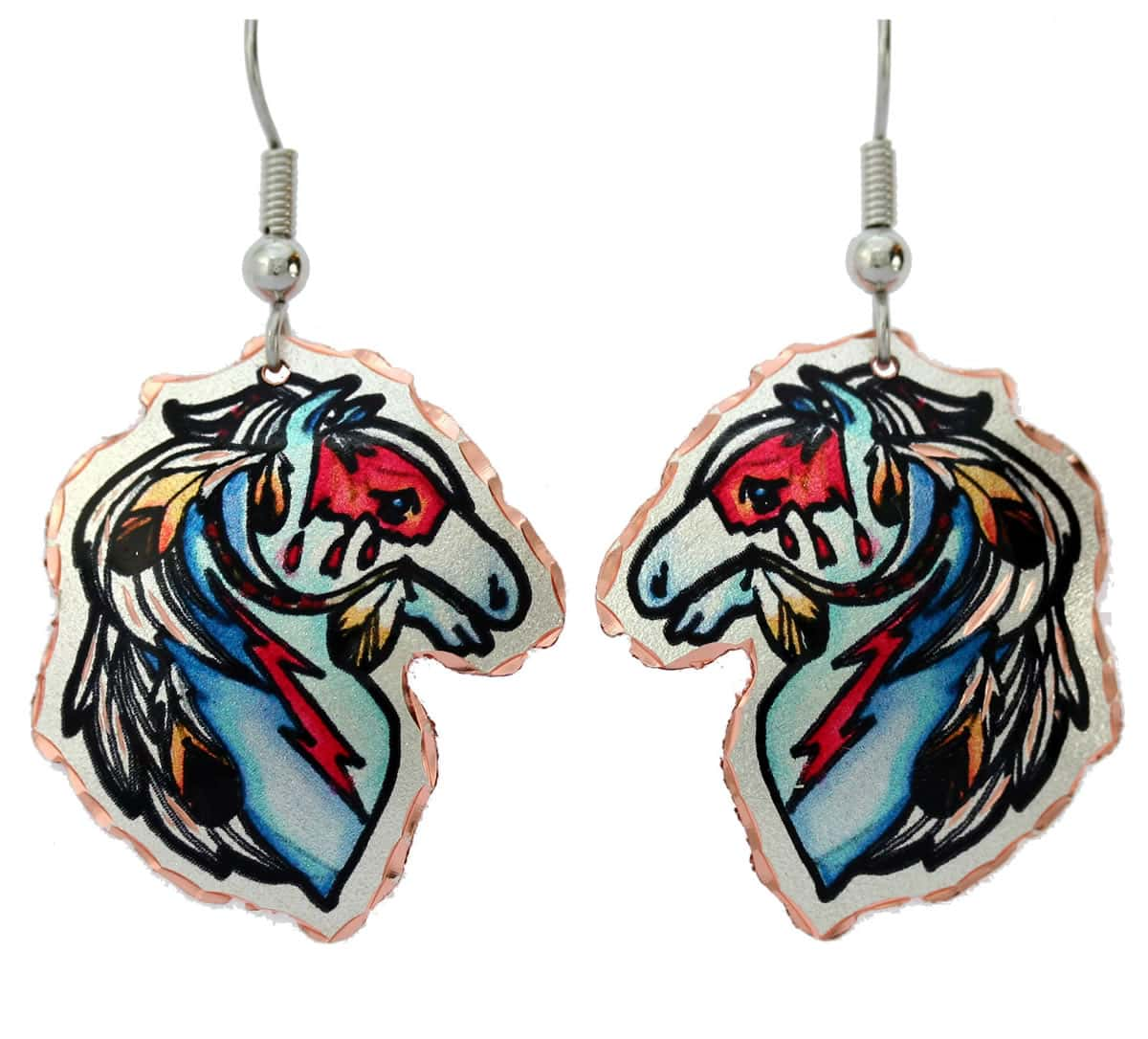 Native Indian war horse earrings perfect for you to impress everyone