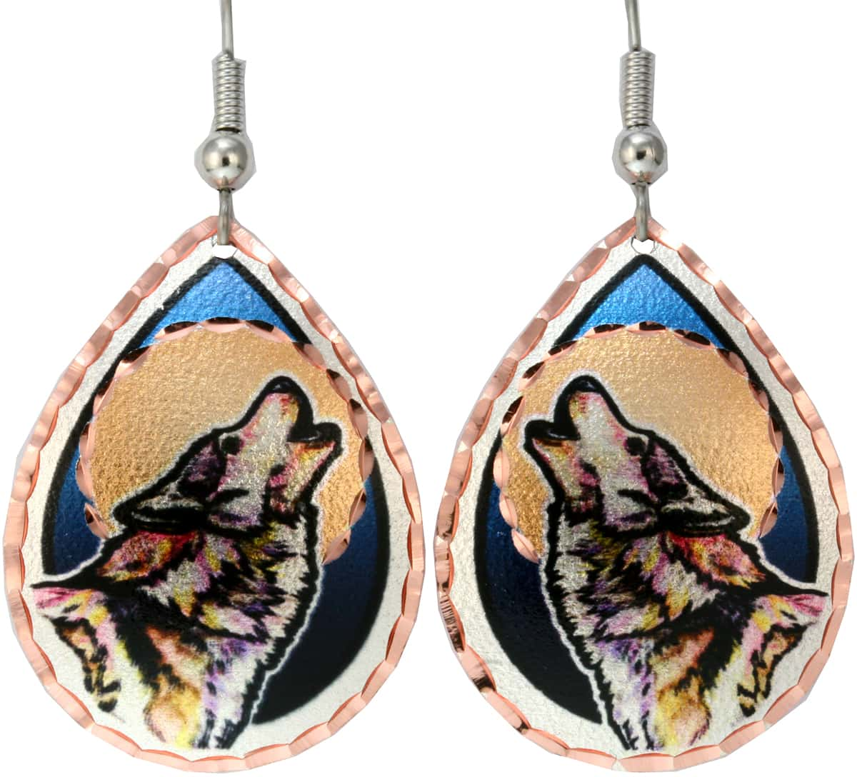 Howling Wolf Earrings For Women Who Loves Wildlife