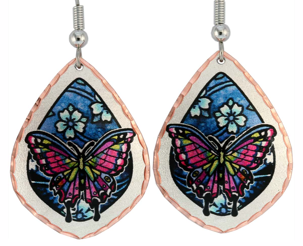 Wholesale Art Jewelry, Butterfly Earrings