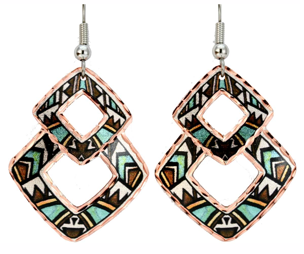 Colorful Native Art Jewelry Earrings