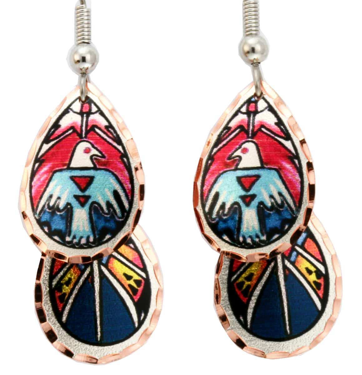 Wholesale Native Art Jewelry, Dangle Thunderbird Earrings