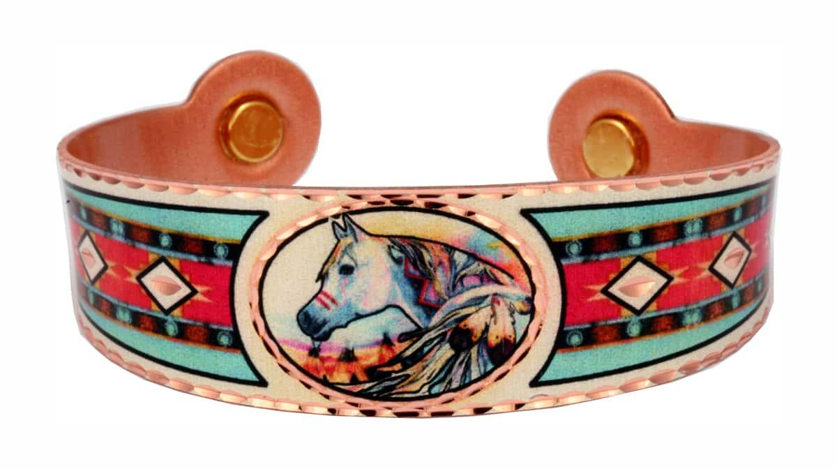 Native Horse Copper Magnetic Bracelet