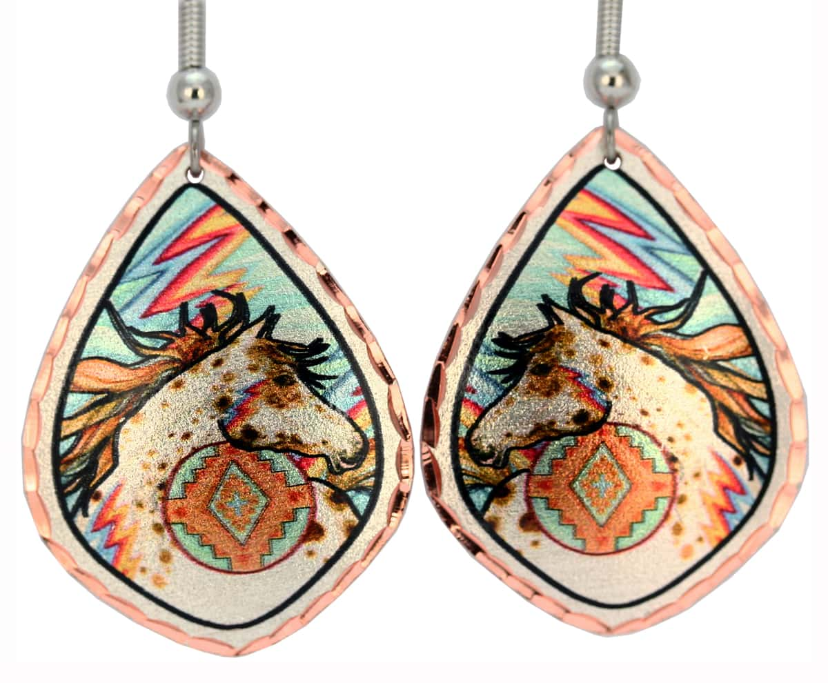 SW Native American Horse Earrings