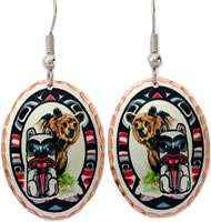 Wear this delightful Native bear totem earrings for a look effortlessly sophisticated look