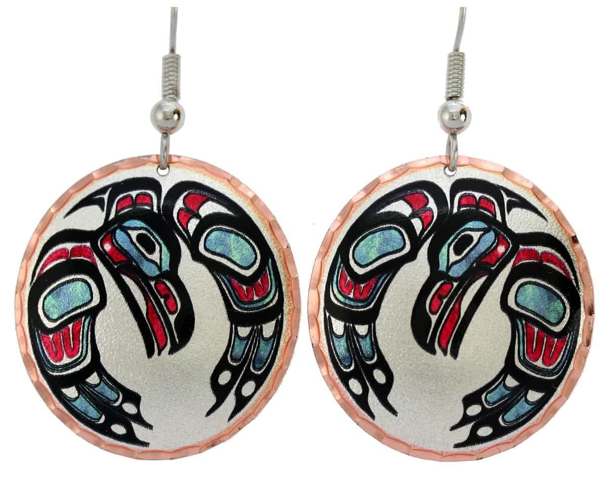 Native Haida eagle earrings, best handmade jewelry you can not find anywhere else