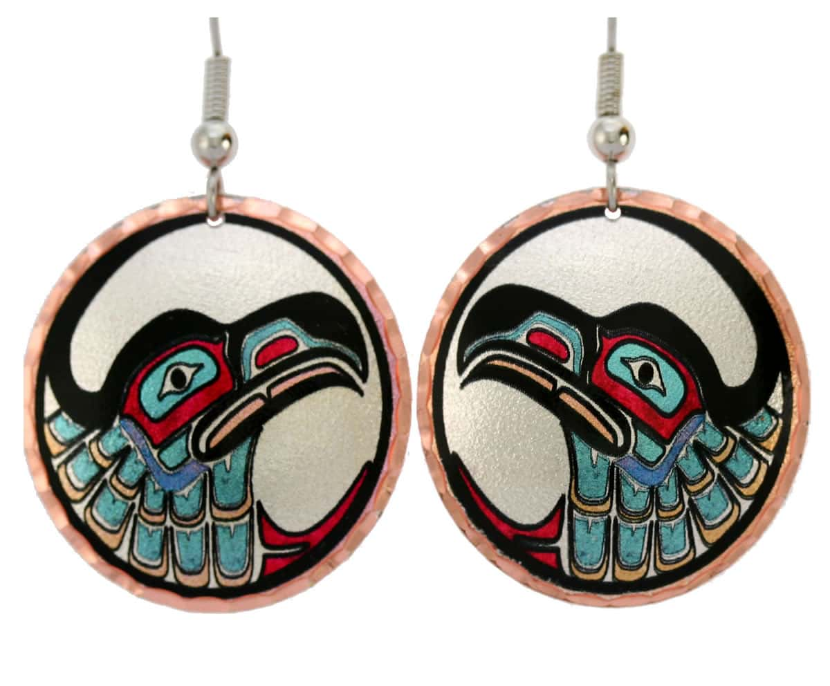 Wear these delightful Northwest Native eagle earrings for a sophisticated look