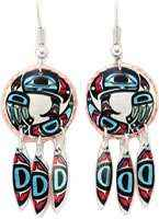 Buy dangle Native Haida eagle earrings sure to make you stand out in the crowd