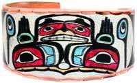 Buy colorful Northwest Native Haida hands of creation rings
