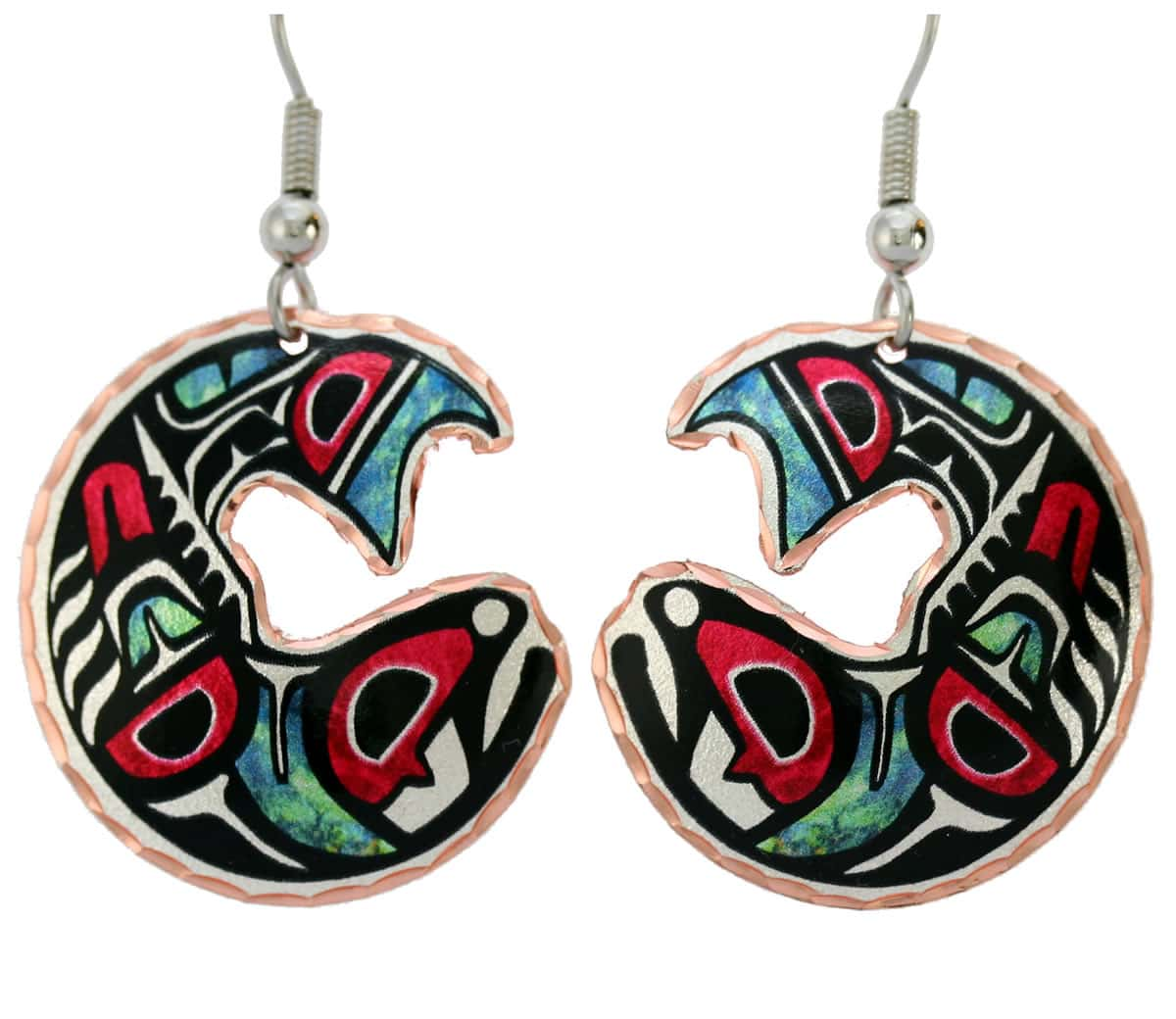 Buy Northwest Native salmon earrings sure to make you stand out in the crowd