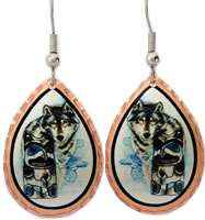 Purchase Northwest native wolf totem earrings will be your timeless treasure