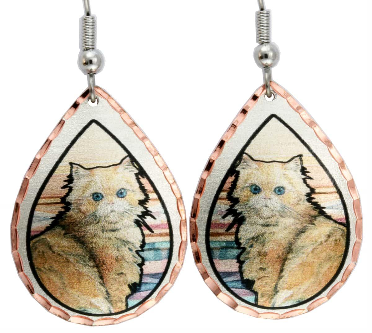 Persian Cat Earrings