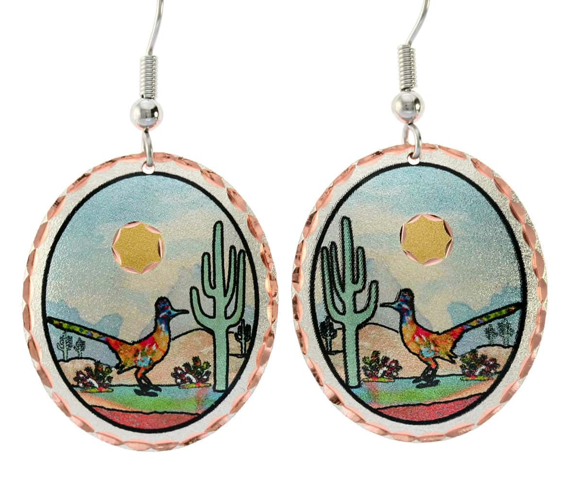 Wear these gorgeous roadrunner earrings for a Southwestern fashionable look