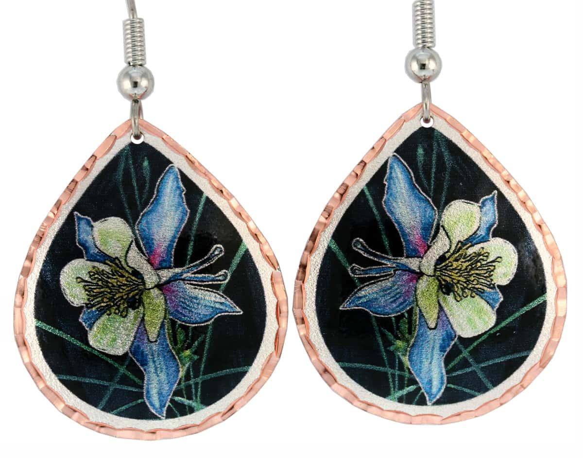 Rocky Mountains Columbine Flower Earrings