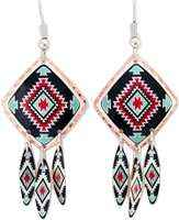 Dangle colorful Southwest Native earrings will be a great addition to your jewelry collections and a sophisticated look to your outfits.