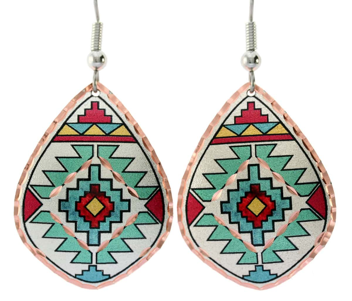 Southwest Native earrings handmade in mesmerizing design and colors
