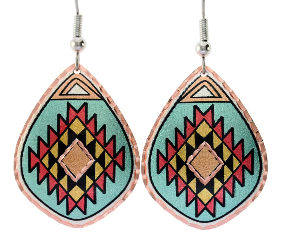 Purchase gorgeous turquoise blue Southwest Native earrings, accentuate your western fashion style
