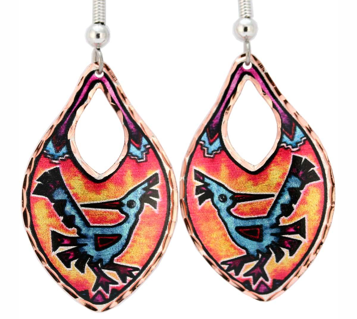 Southwestern Roadrunner Earrings