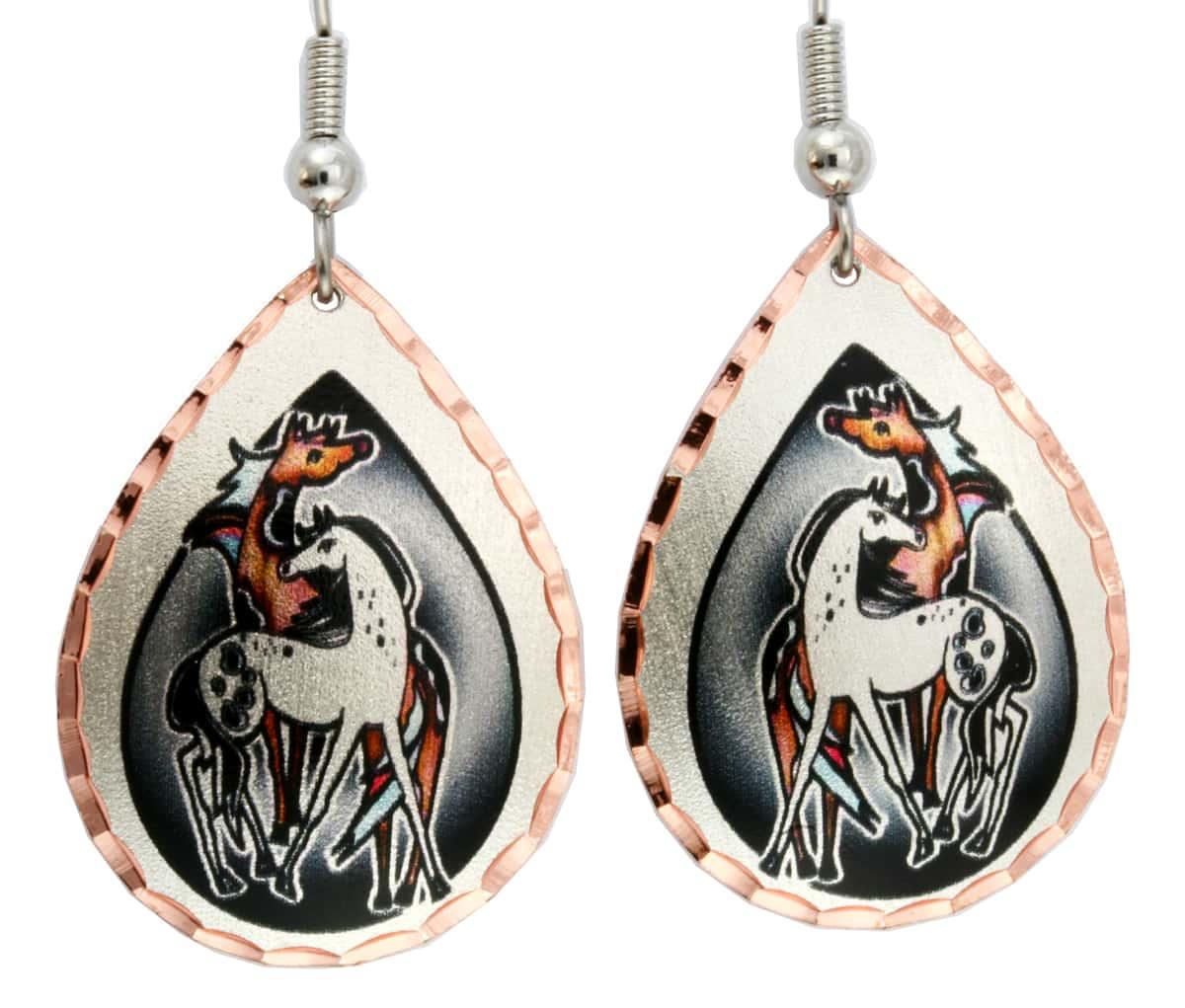 Buy Stylized Horse Earrings Created in Western Style