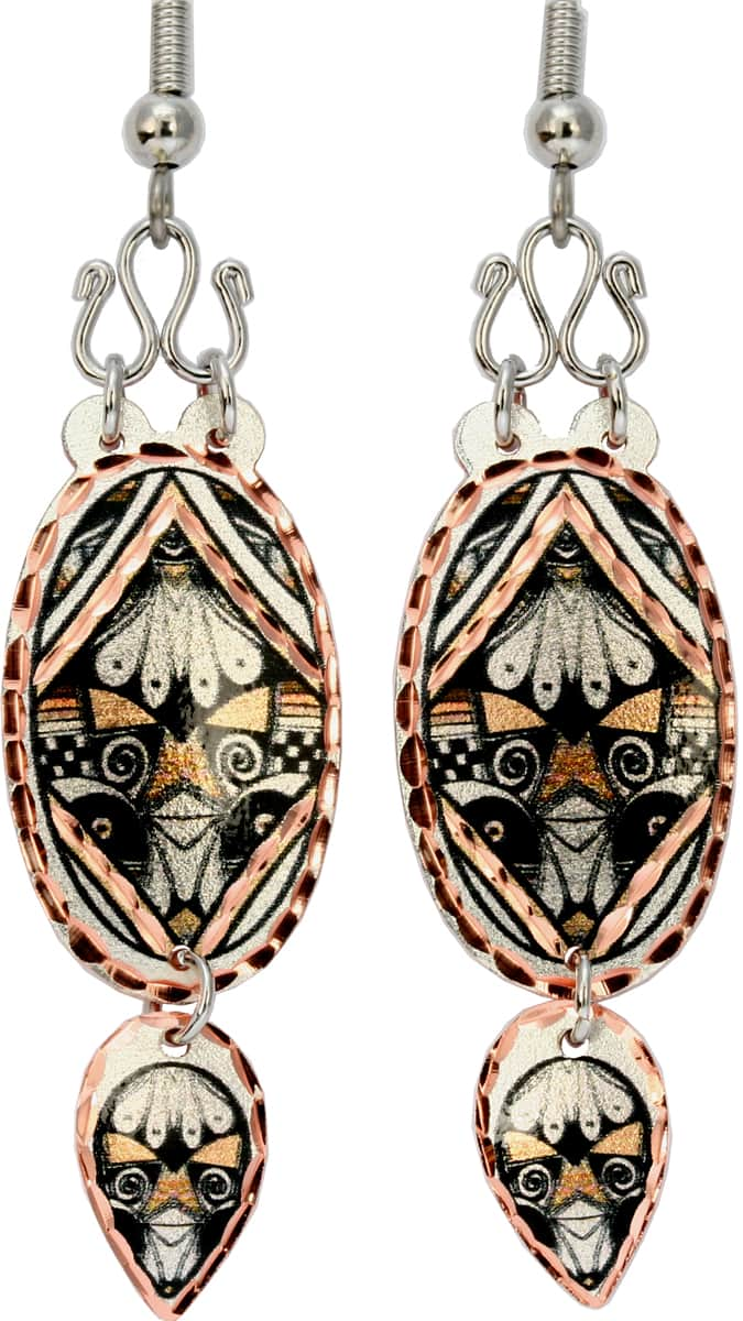 Buy American Native Pueblo earrings decorated with wires