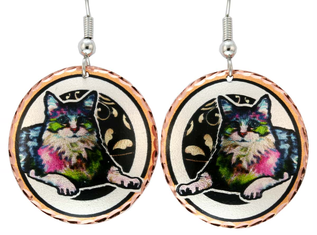 Buy Tabby Cat Earrings Now!
