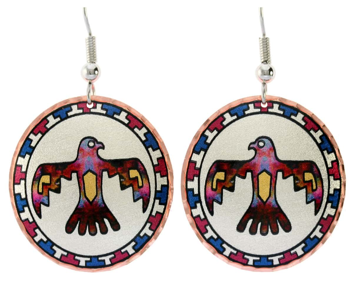 Native Thunderbird earrings, perfect choice for women who love Southwestern fashion