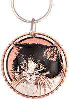 Buy handmade copper gifs online, pretty cat keychains for women