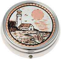 Unique Copper Gifts For Women and Men, Lighthouse Pill Boxes