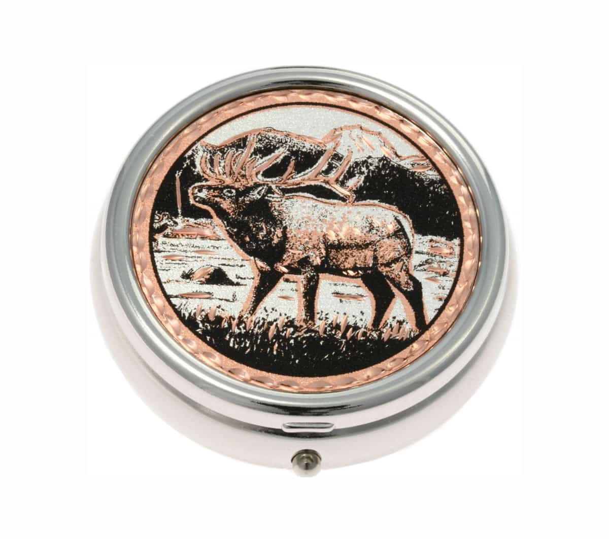 Handmade Copper Elk Artwork Decorated Stylish Pill Boxes