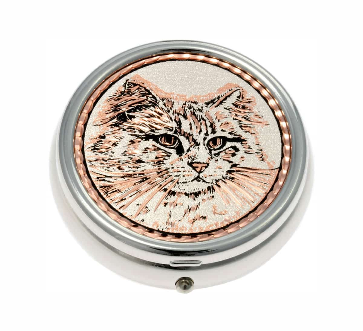 Buy Elegant White Persian Cat Pill Boxes, Special Handmade Gifts for Women