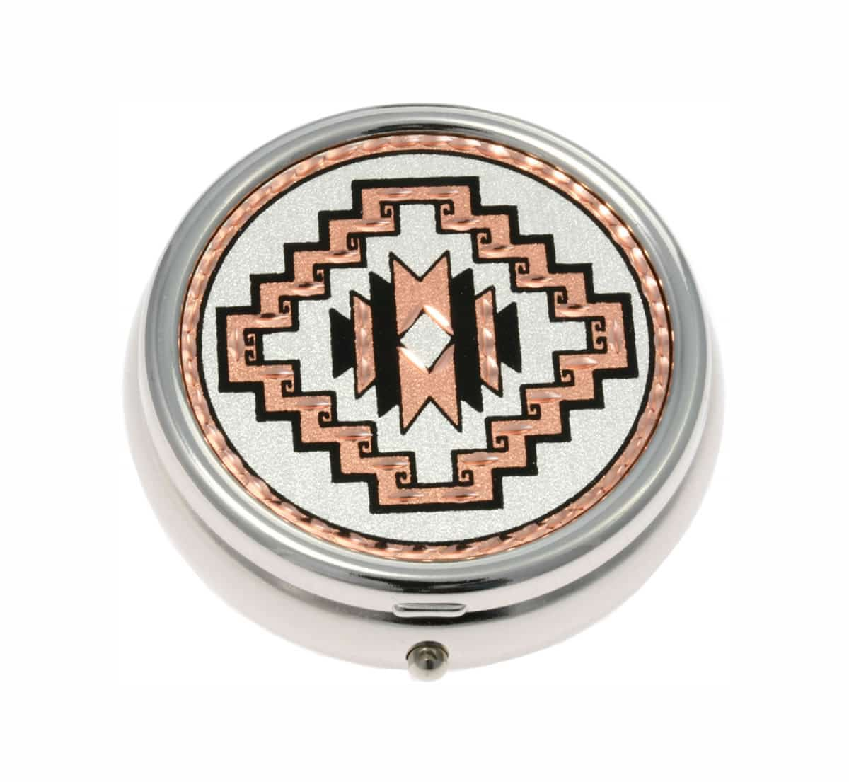 Buy SW Native American Handmade Copper Artwork Decorated Stylish Pill Boxes