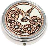Buy Pretty Flowers and Hummingbird Pill Boxes, Special Handmade Gifts for Women