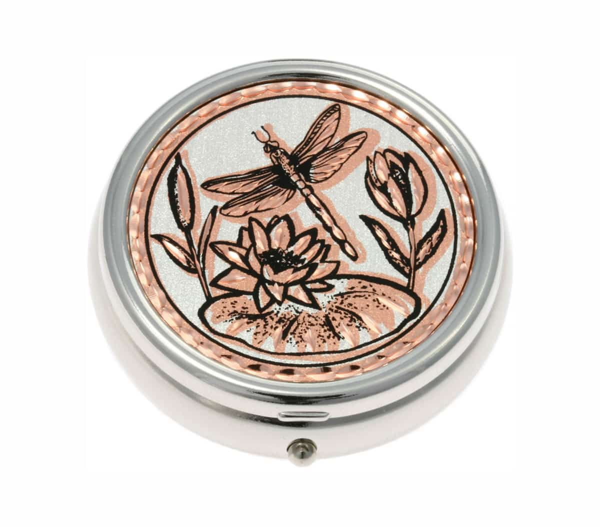 Unique Copper Gifts For Women, Dragonfly Pill Boxes