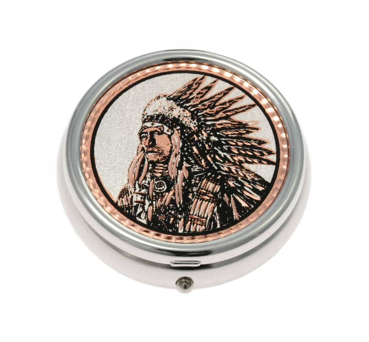 Buy Precious American Indian Chief Pill Boxes, Special Handmade Gifts for All Occasions