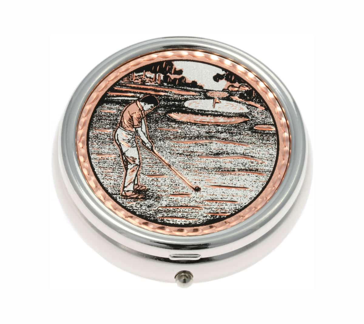 Golfer Man Pill Boxes, Handmade Unique Gifts for Men