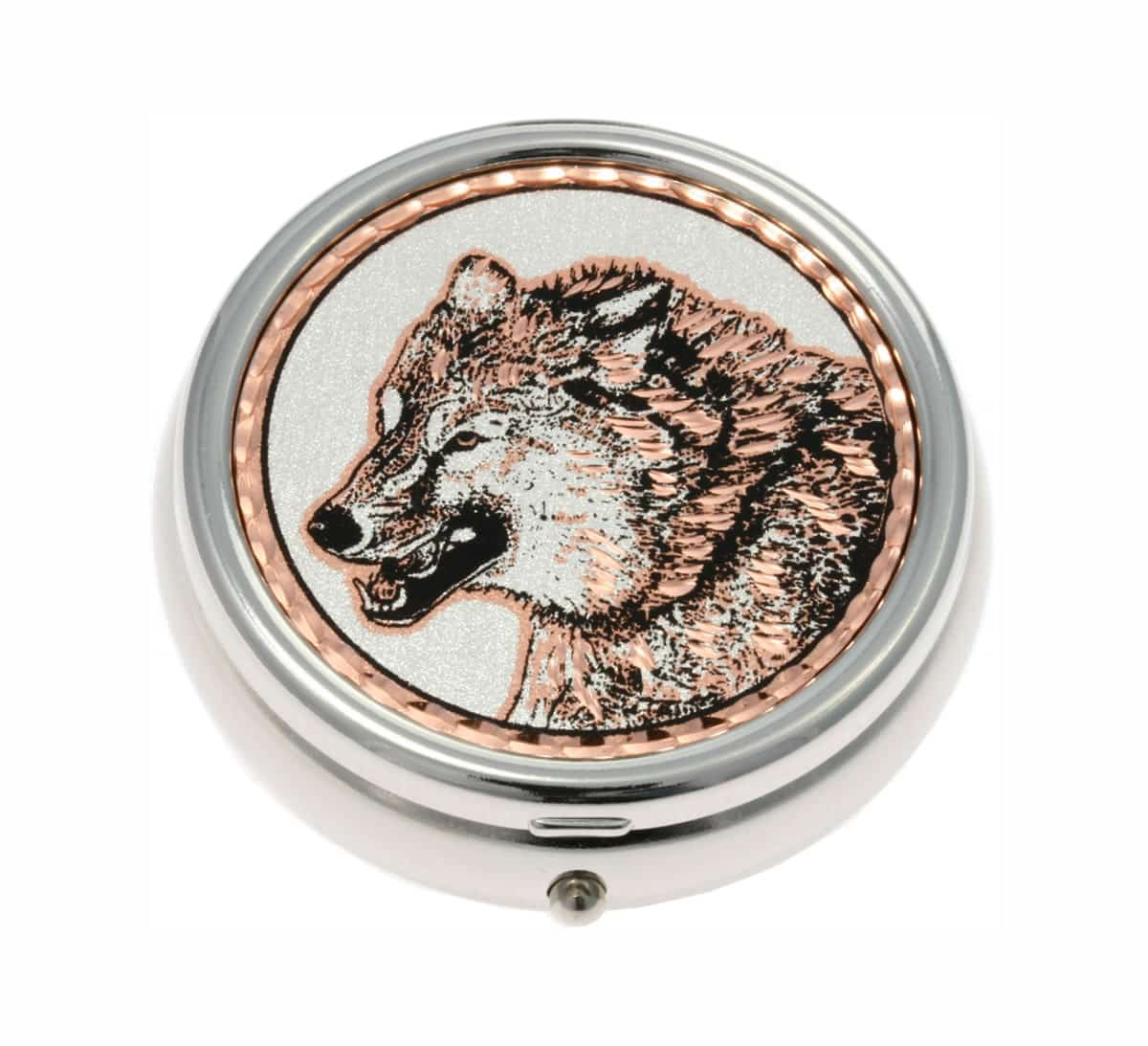 Buy Wolf Face Decorative Pill Box Unique Gifts for Men and Women